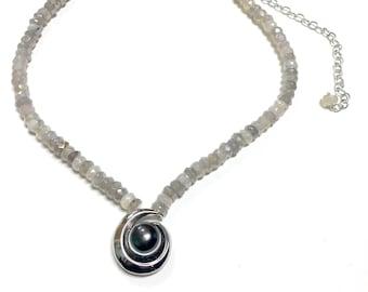 Labradorite & Pearl Necklace