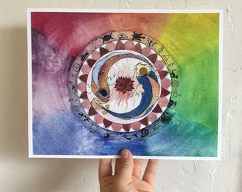 PRINT of Medicine Wheel