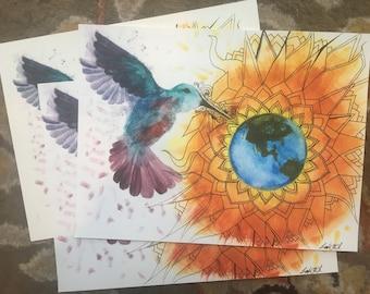 Three Prints of Return of the Bird Tribes