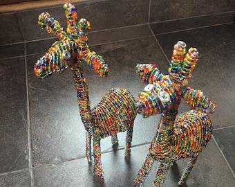 Beaded Giraffe by Samburu Kenya woman artisan