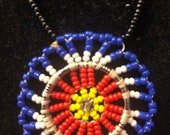 Painted star necklace
