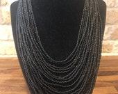 Multi strand beaded necklace from Samburu Kenya