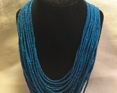 Multi strand beaded necklace from Samburu Kenya