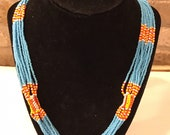 Beaded no-clasp necklace