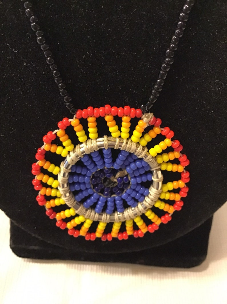 Beaded medallion  necklace image 0