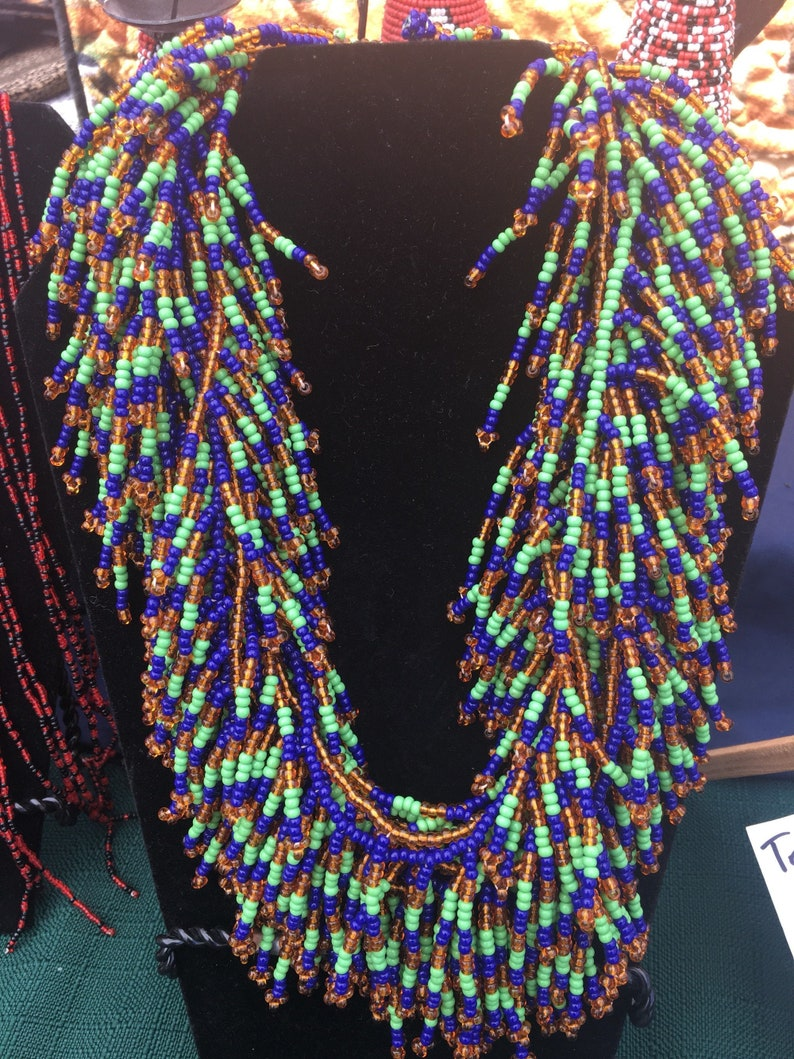 Multi-strand mane's necklace from Samburu Kenya image 0