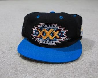 Vintage Super bowl XXX 1995 Snapback hat cap NFL 2658b428beef
