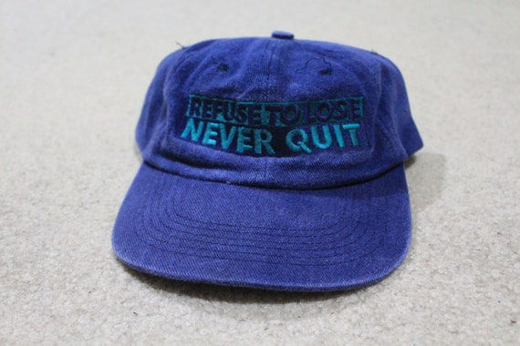 Vintage 90s  never give up never quit  snapback hat  6d1bc801d5e9