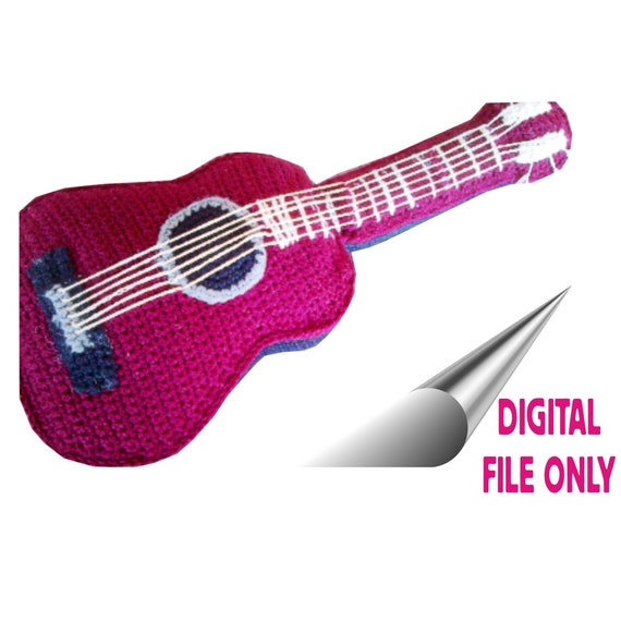 Ravelry: Guitar Fender stratocaster pattern by Gateando Crochet | 570x570