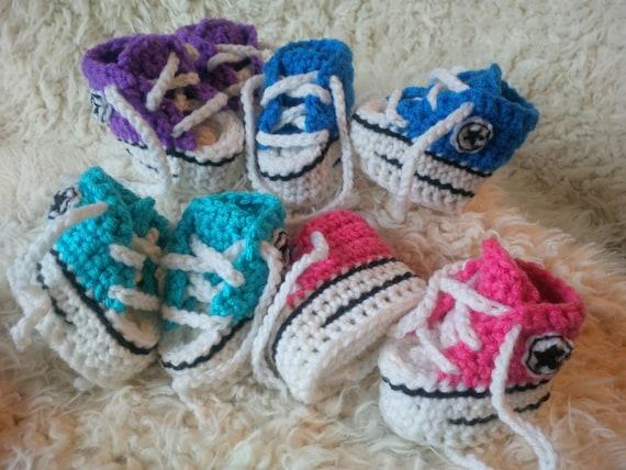 Pattern Only Crochet Baby Converse Pattern Etsy