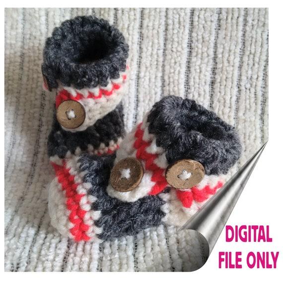 Pattern Only Crochet Baby Sock Monkey Slippers Etsy