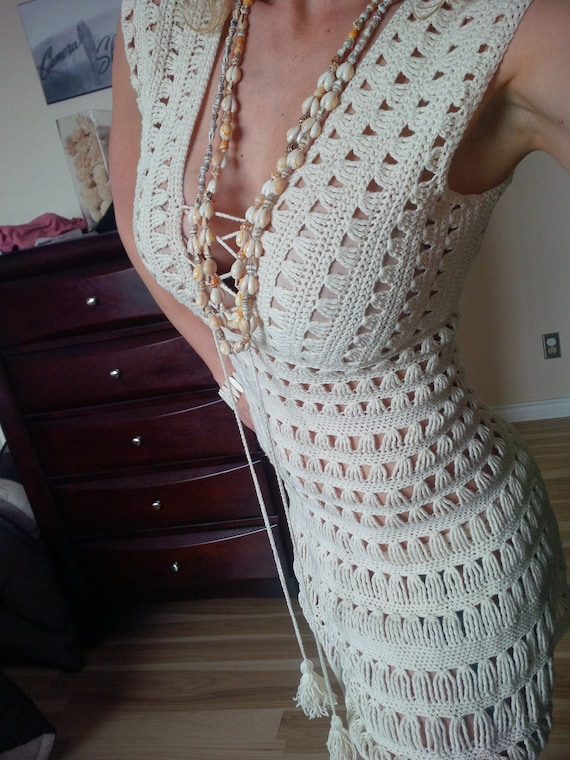 Pattern Only Just Go With It Jennifer Aniston Crochet Dress Etsy