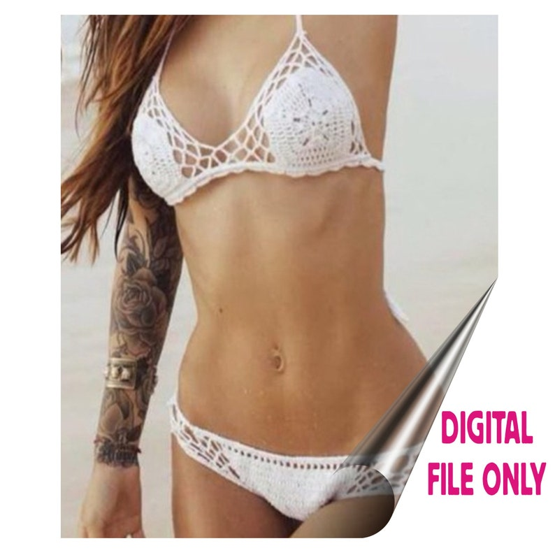 942a9a47 Honeycomb Bikini PDF Crochet Pattern   Etsy