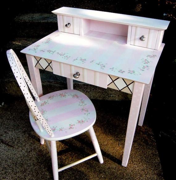 Pleasing Hand Painted Desk Writing Desk Hand Painted Furniture Girls Painted Desk Painted Furniture Lamtechconsult Wood Chair Design Ideas Lamtechconsultcom
