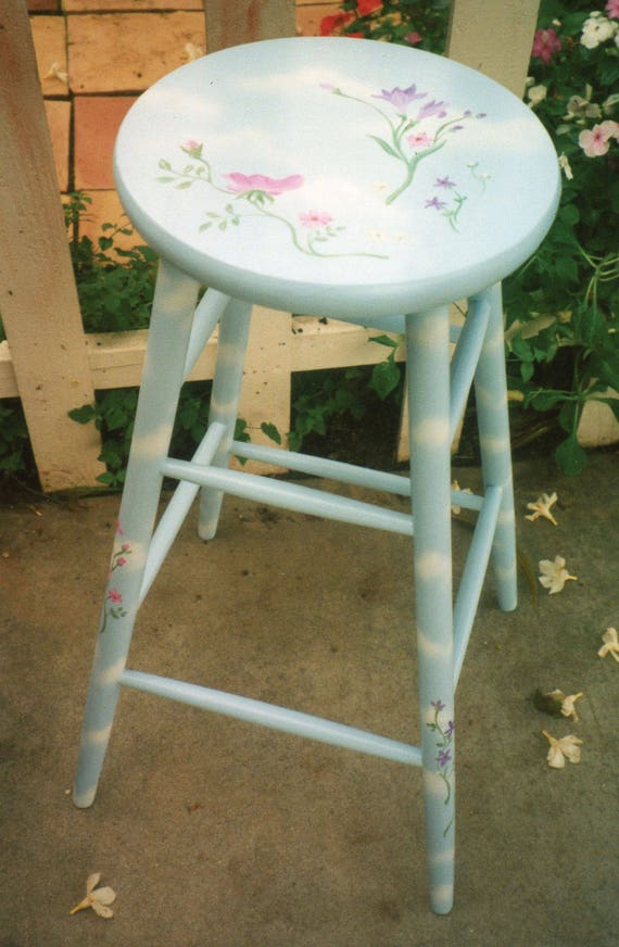 bar stools, kitchen bar stools, hand painted bar stool, hand painted  furniture, kitchen stools