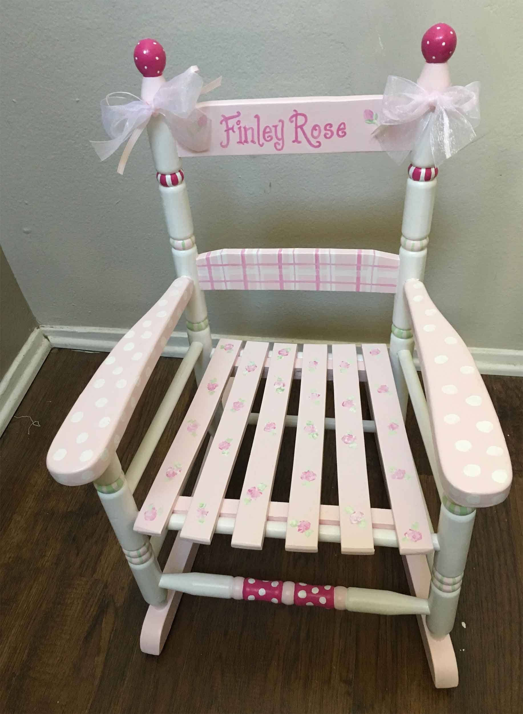 Kids Rocking Chair Child S Hand Painted Rocking Chair Etsy