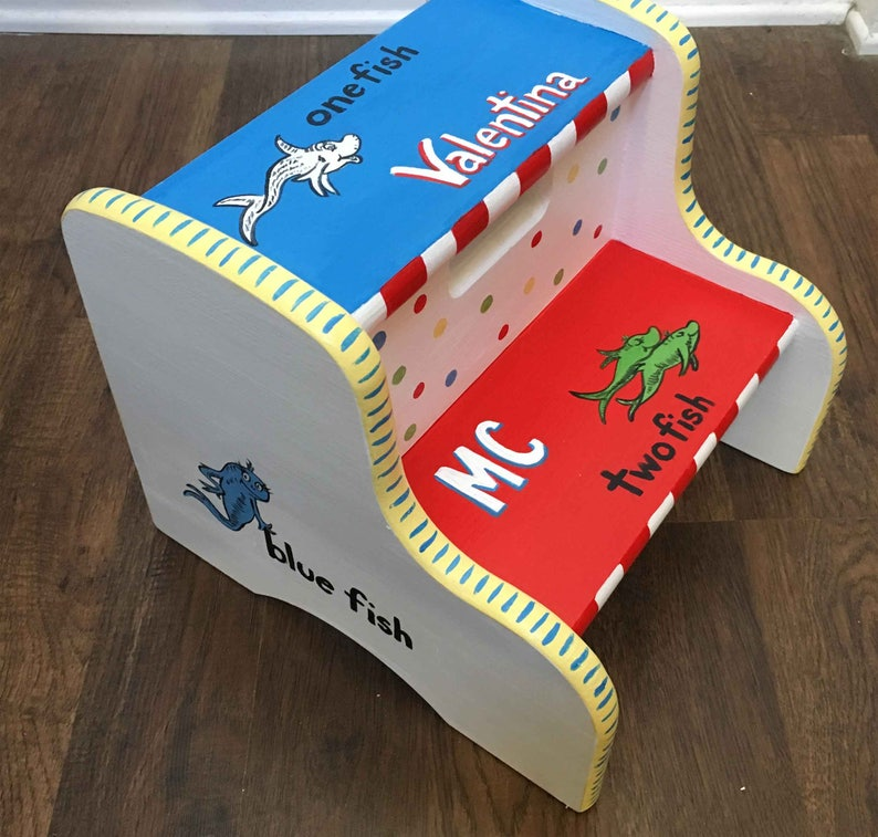 child/'s step stool hand painted kids step stool hand painted furniture
