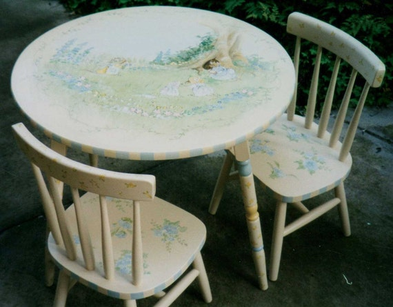 image 0 & hand painted table set childrenu0027s table and chairs   Etsy
