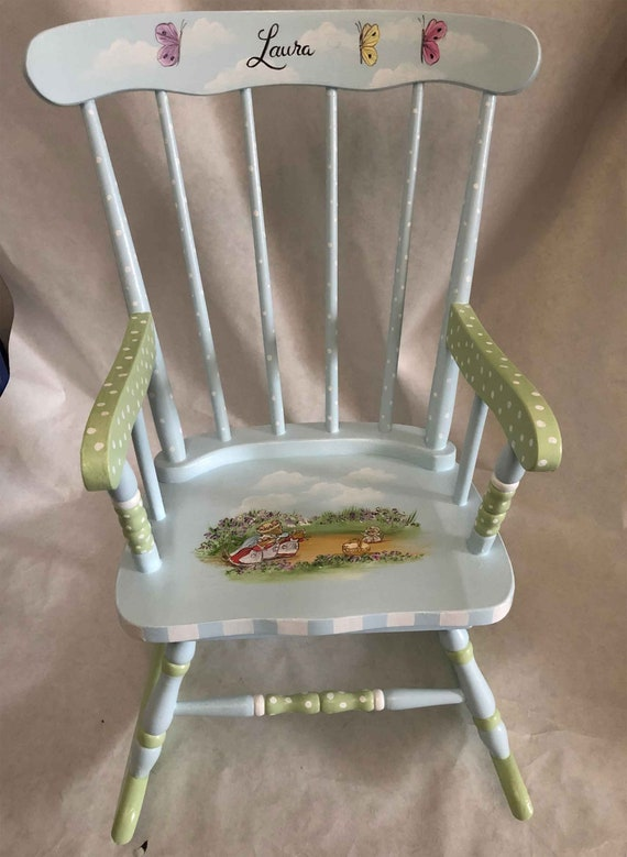 uk availability 6ed8e 73d49 hand painted rocking chair, kids rocking chair, personalized rocking chair,  kids painted furniture