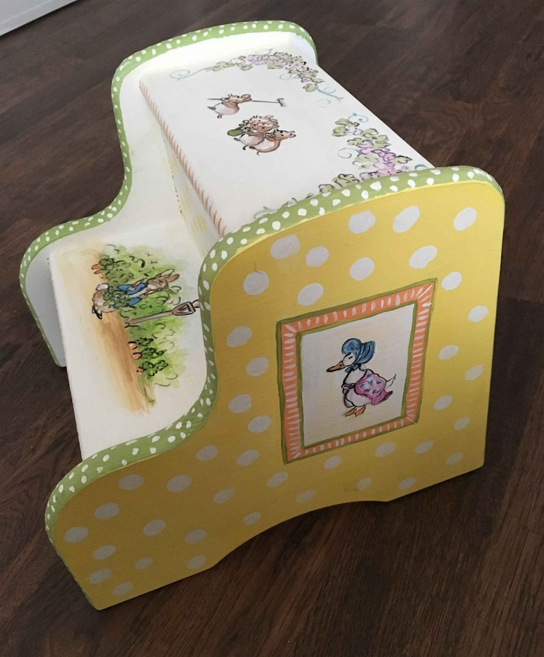 children/'s furniture hand painted step stool wood step stool child/'s painted step stool