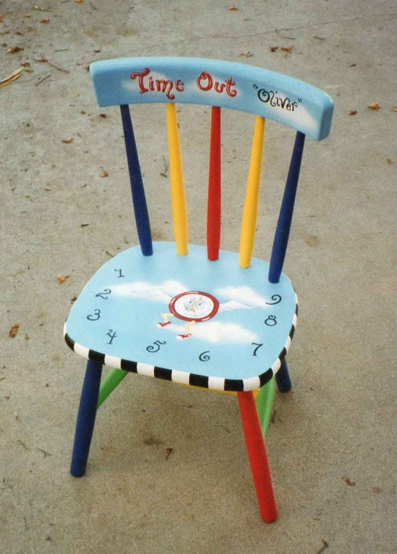 Amazing Time Out Chair Painted Furniture Painted Kids Chairs Hand Painted Furniture Pdpeps Interior Chair Design Pdpepsorg