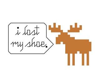 I Lost My Shoe Cross Stitch Pattern