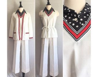 e48c1b55a9e 1960s - 1970s 3 Peice Pantsuit   60s 70s The Kollection Pant Suit   Mod  Black