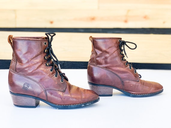 VTG 80s 90s Durango Boots / Size 7.5 Real Whiskey… - image 3