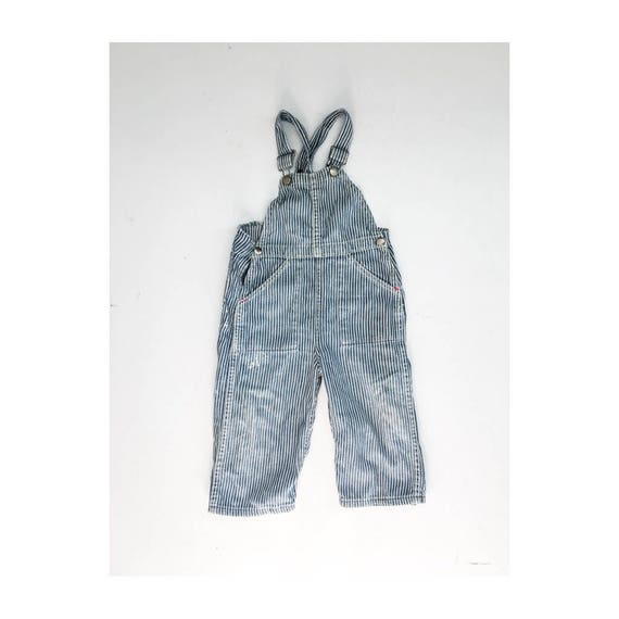 Rare 1930s Toddler Denim Pinstripe Overalls // 30s