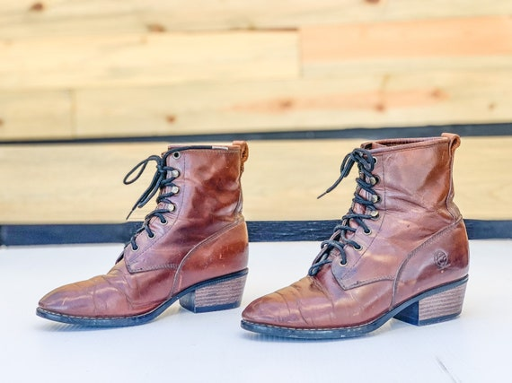 VTG 80s 90s Durango Boots / Size 7.5 Real Whiskey… - image 4