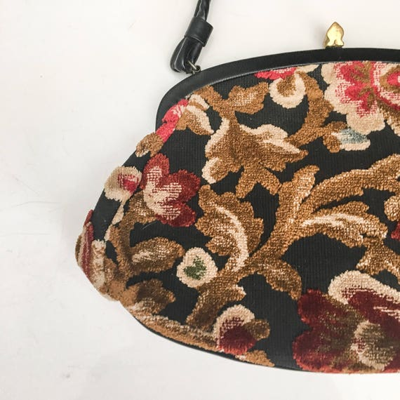 Vintage Tapestry Kelly Bag // 50s 60s Garay Tapes… - image 7