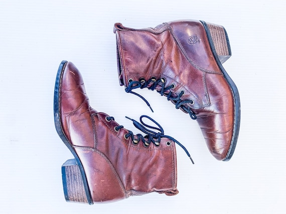 VTG 80s 90s Durango Boots / Size 7.5 Real Whiskey… - image 1