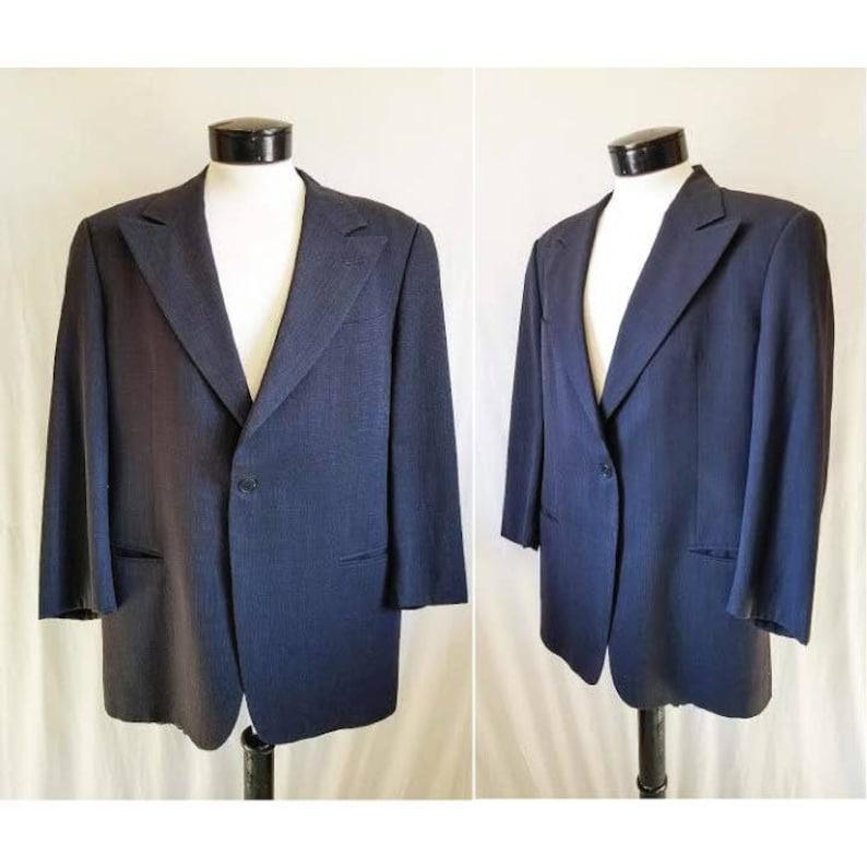 ba8bf320ca GIORGIO ARMANI Le Collezioni Neiman Marcus Navy Tuta Giacca Blazer taglia  42-44 grandi / / stilista di alta moda sport cappotto Made in Italy