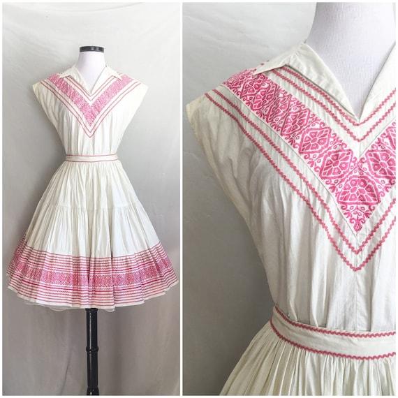 1950s Dress Set / Southwest Dress Set / 50s Native