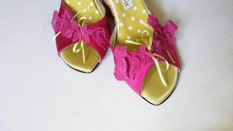 05fd063559350 Vintage Christian Lacroix Shoes // Vintage Wedge Platforms // | Etsy