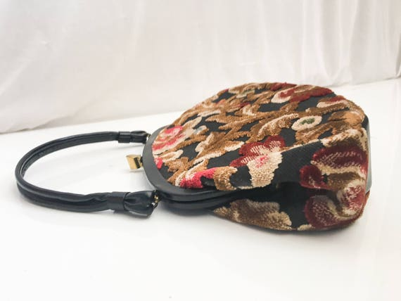 Vintage Tapestry Kelly Bag // 50s 60s Garay Tapes… - image 6