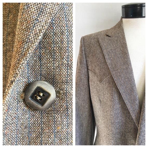 Mens Vintage Mend Suit by Prestige West // Grey T… - image 9