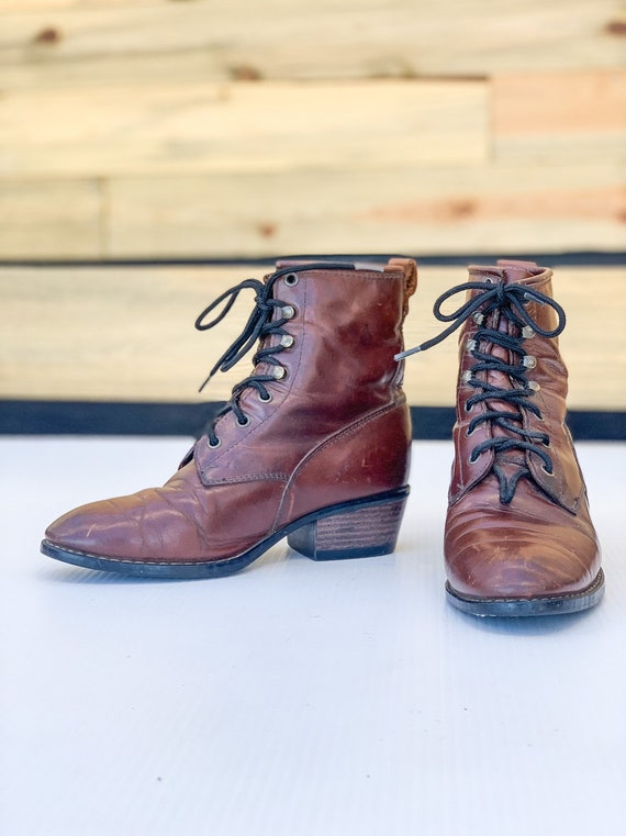VTG 80s 90s Durango Boots / Size 7.5 Real Whiskey… - image 2