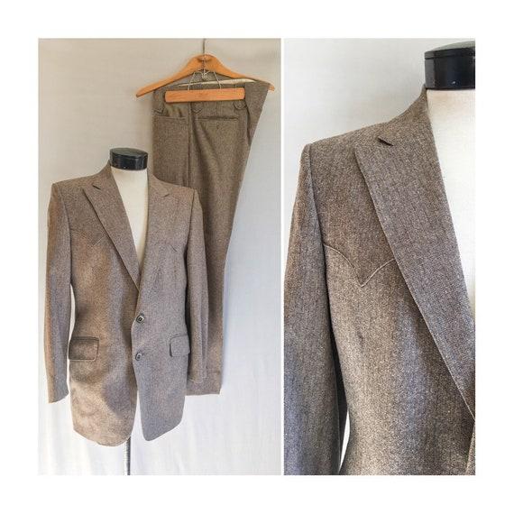 Mens Vintage Mend Suit by Prestige West // Grey Ta