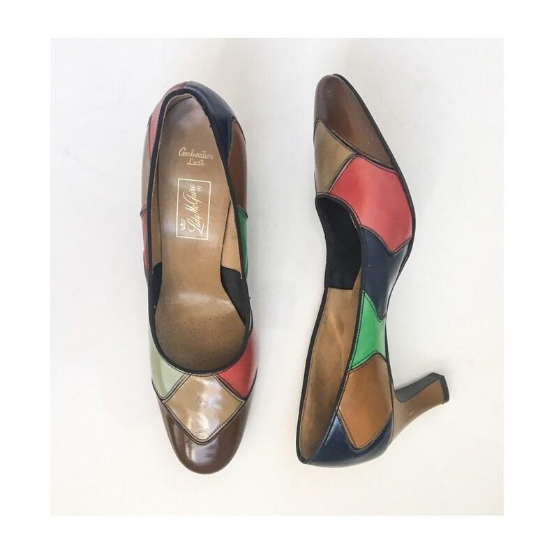 5da49c07499437 Chaussures Vintage / / Vintage 1960s 1970s talons / / des | Etsy