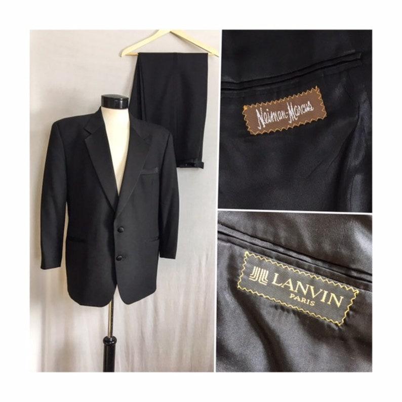 aa6f694f57b Vintage Lanvin Paris Tuxedo for Neiman Marcus   Mens Black