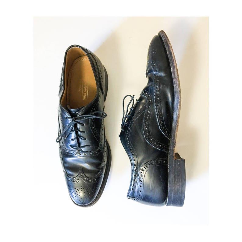 dbfd32b59 Mens Vintage Johnston   Murphy Black Wingtip Oxfords    Vtg