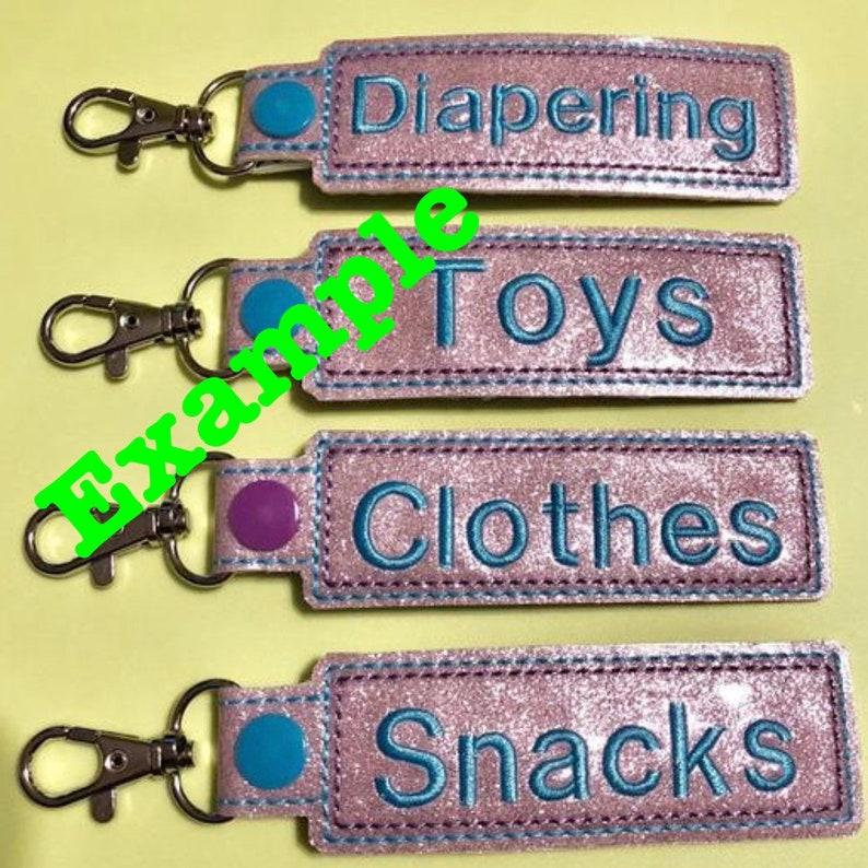 You choose CUSTOM Embroidered Jujube x Harry Potter Honeydukes Print Diaper bag and life organizer Snap Tag Key FOB