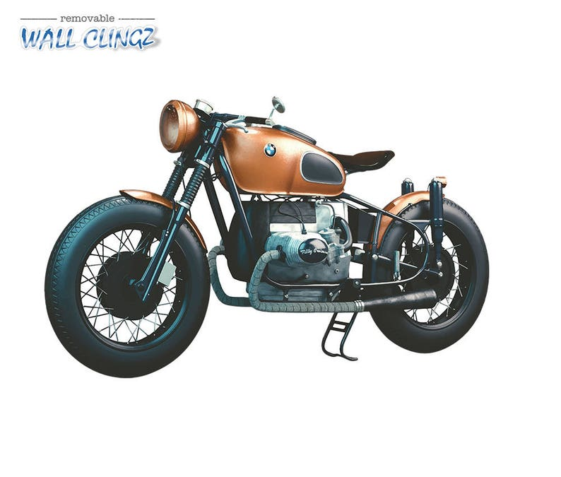 Bmw Cafe Racer Wall Graphic Decal Man Cave Decor Garage Wall Decor Car Wall Stickers Wall Decal Wall Decals Bmw Cafe Racer