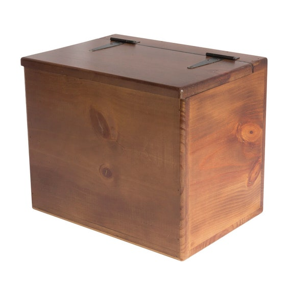Storage Box Wooden Small Flat Top Hinged Lid Versatile Storage For The Home