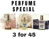 AROMATHERAPY PERFUME sale any 3 essential oil fragrances, special holiday price 15ml elegant roll on bottle. gift, present, stocking stuffer