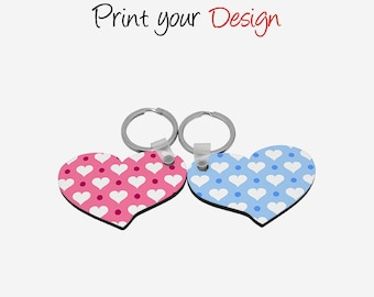 Young Lovers HB Lover Hearts Shaped Personalized Sublimation Key Ring MYA14