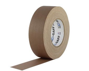 Tan Brown Gaffer Tape; 2inx55yd Heavy Duty Pro Grade Gaffer's Non-Reflective, Waterproof, Multipurpose Tape; Stronger than Duct Tape