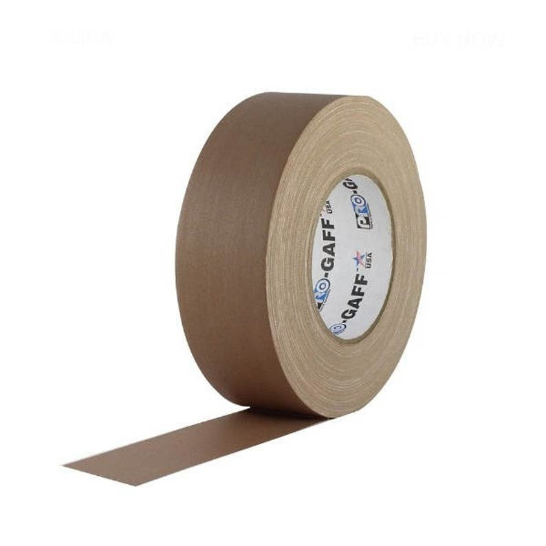 Waterproof Tan Brown Gaffer Tape; 2inx55yd Heavy Duty Pro Grade Gaffer/'s Non-Reflective Multipurpose Tape; Stronger than Duct Tape