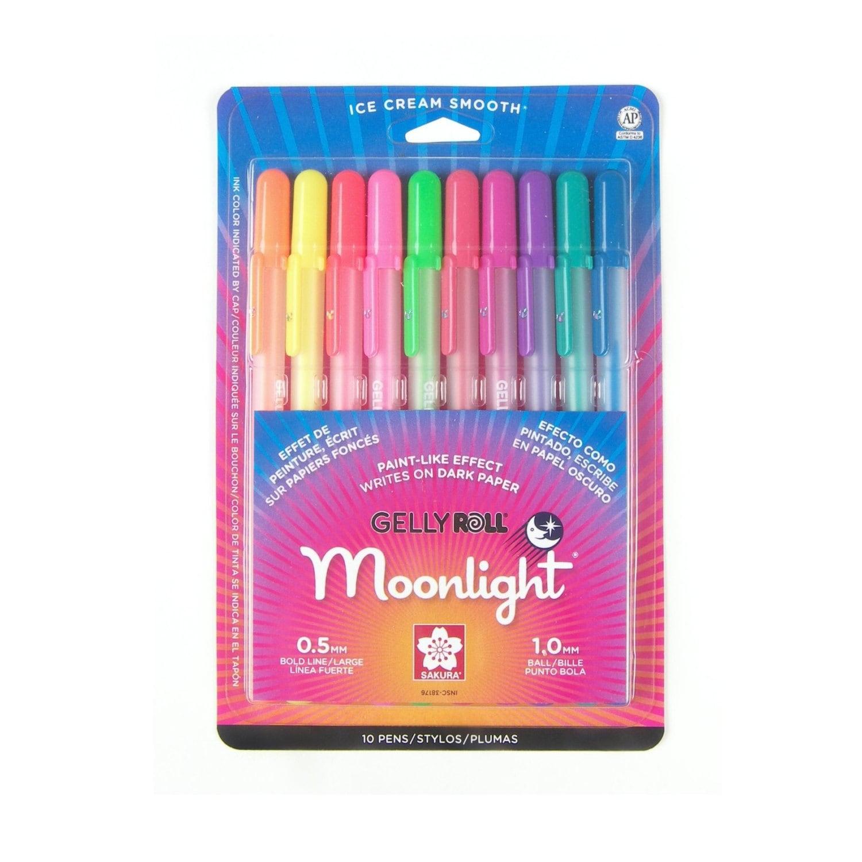 10 Sakura Pens Markers Sakura Gelly Roll Moonlight Colors | Etsy